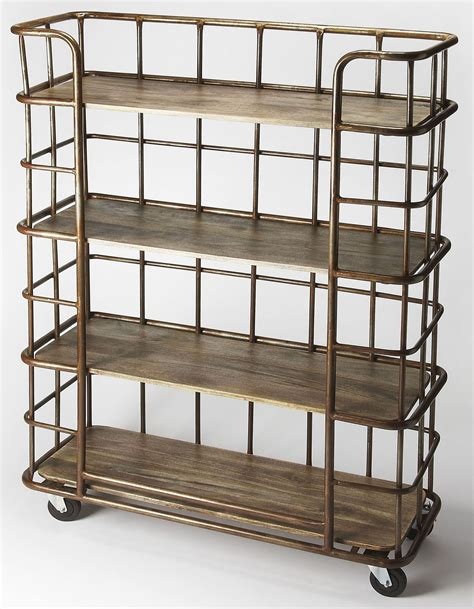 Industrial Etagere by Antioch Industrial Chic Etagere 6091330 Butler