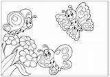 Butterfly Coloring Pages Butterflies Cartoon Printable Flowers Fun Drawings Flying Any Reproduce Resell Provided Personal Form Please Been sketch template