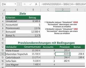 Provision Berechnen : oder funktion office support ~ Themetempest.com Abrechnung