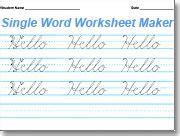 Handwriting Worksheets Maker Amazing Handwriting Worksheet Maker Html Autos Weblog