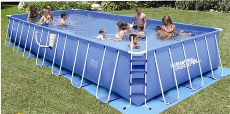 Summer Escapes Rectangular Frame Pool 12 Ft X 30 Ft X 48