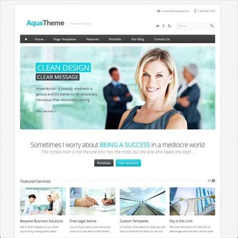 business website templates 40 high quality business website templates