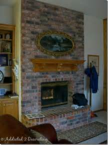 Spray Paint Brass Fireplace Doors by A Painted Brick Fireplace A Winner And Addicts Not So
