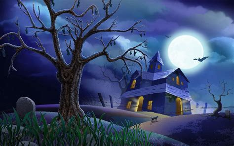 animated halloween desktop wallpaper wallpapersafari