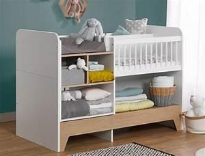 Lit Enfant Combiné : lit b b volutif combin calisson avec table langer et ~ Farleysfitness.com Idées de Décoration