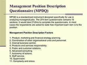 j ob analysis With position description questionnaire template