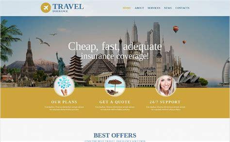 Travel Insurance Website Template by 15 Best Insurance Html Website Templates 2018 Wpshopmart