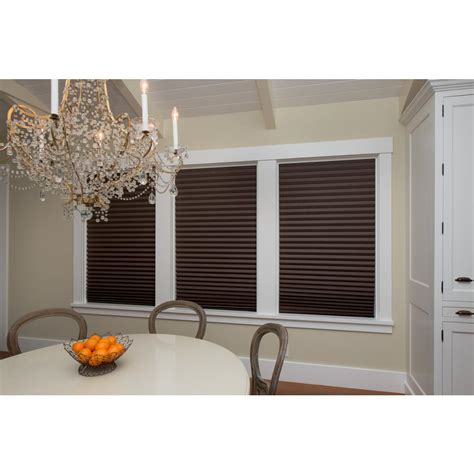 redi shade chocolate brown paper pleated shade 36 in w