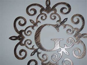 36 inches family initial metal monogram any letter or number With metal monogram letters for wall