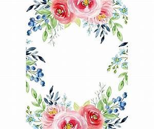 watercolour flower frame border clip graphic design