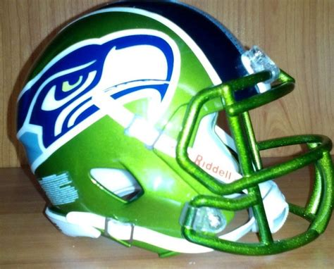 ultimate seattle seahawks custom mini football helmet