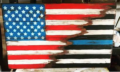Flag Thin Line Wood Pallet Usa Projects