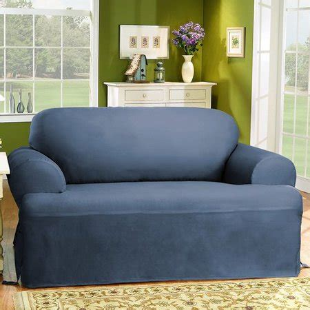 Cotton Duck Loveseat Slipcover by Sure Fit Cotton Duck T Cushion Loveseat Slipcover