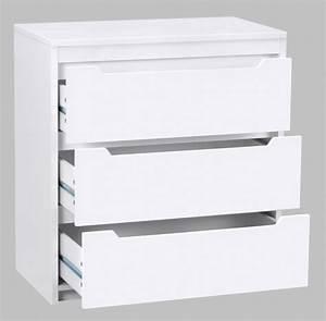 Commode Blanc Laqué : commode blanc laque 3 tiroirs ~ Teatrodelosmanantiales.com Idées de Décoration