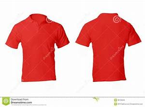 Men's Blank Red Polo Shirt Template Stock Image - Image of ...