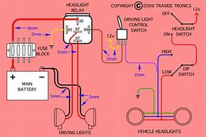 Headlight And Driving Light Wiring Diagrams