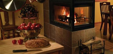 falls glass wood burning fireplace