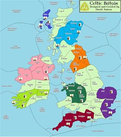 Variant Celtic Britain Map Variants Tribes