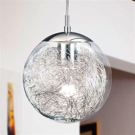 eglo  luberio glass globe pendant light