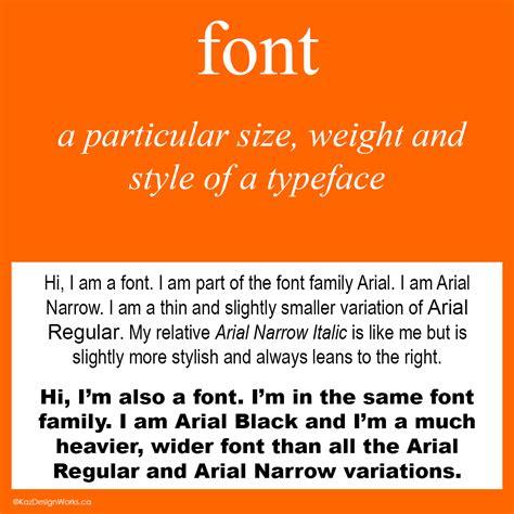 graphic design terms 3 4 typeface vs font kaz talk