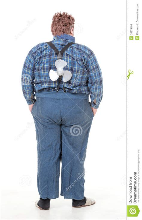 Overweight Obese Young Man Stock Image Image Of