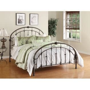 dorel home furnishings queen antique pewter metal bed