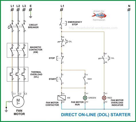 electrical drawing of d o l starter zen diagram dol