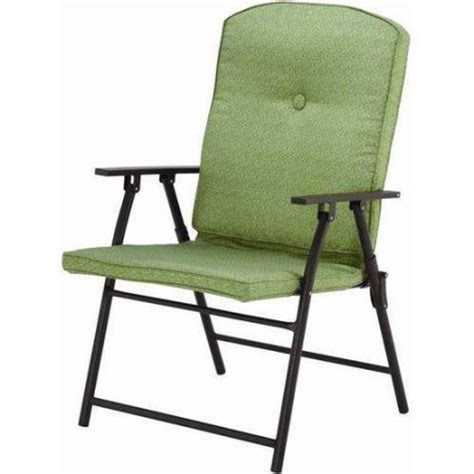mainstays outdoor padded folding chairs set of 2