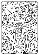 Coloring Mushroom Adult Printable Sheet Camper Adults Happy Inspirations Awesome Coloringoo Approachingtheelephant Astonishing Brothers Mario Sheets Cool Drive2vote Books Cousin sketch template