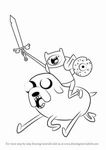 finn and jake coloring pages - learn how to draw finn riding jake from adventure time