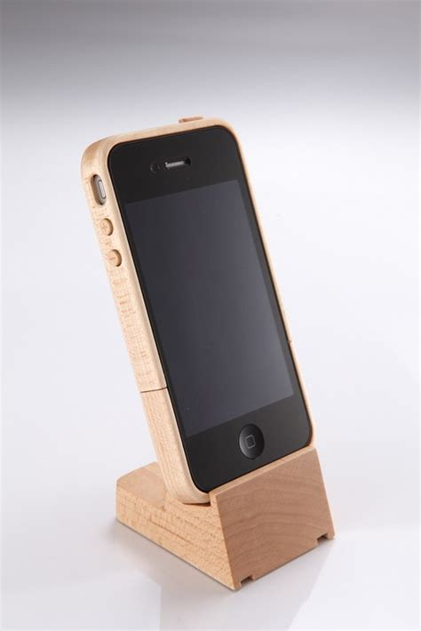 iphone stand iphone 4 maple wood stand nib by kencheng88 on etsy