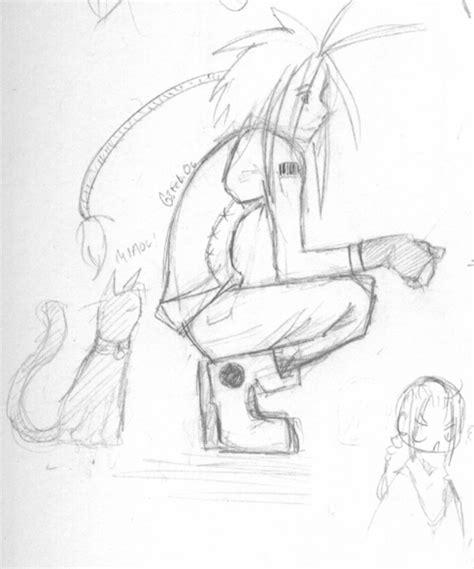 crouching cat  chibi  kiichigonohermit  deviantart