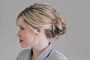 Chignon Cheveux Mi Long : chignon avec cheveux mi long ~ Melissatoandfro.com Idées de Décoration