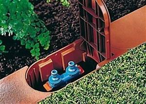 Strom Im Garten : rasenkante mit wasser und elektroanschluss ~ Frokenaadalensverden.com Haus und Dekorationen