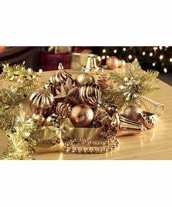 100 Piece Copper and Gold Christmas Decoration Pack