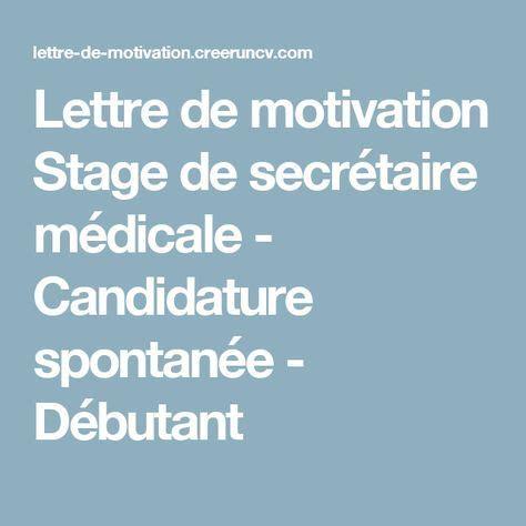 modele lettre de motivation demande de stage secretaire medicale modele lettre de motivation spontan 233 e secretaire medicale