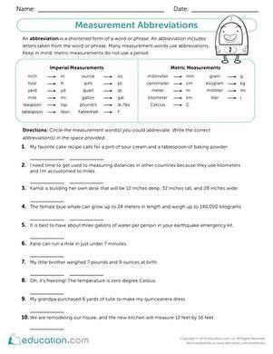 geometry measurement review worksheet educationcom