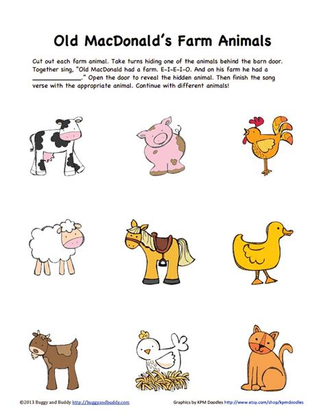 farm animals colorpdf google drive unitmake