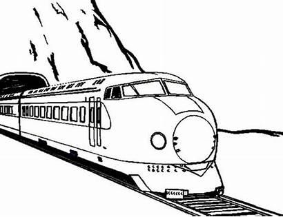 Tunnel Train Coloring Came Trains Sketch Drawings