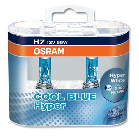 osram cool blue h7 2 oule h7 12v 55w osram cool blue hyper xenon look 5000k adtuning