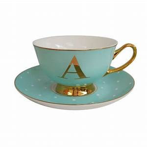 alphabet spotty teacup and saucers teacups fine china With letter tea cups