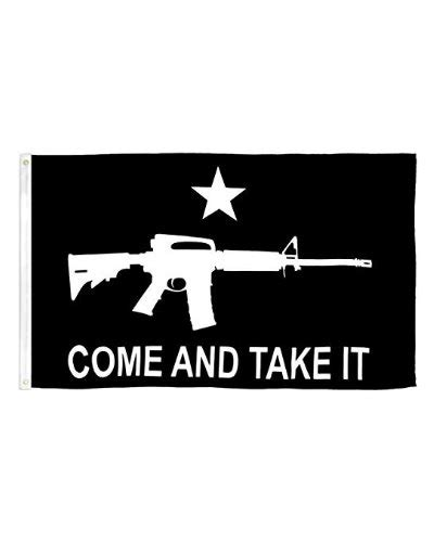 Come and Take It black tactical printed nylon flag