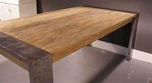 Esstisch Holz Stahl Industriedesign Kaufen Im Borono