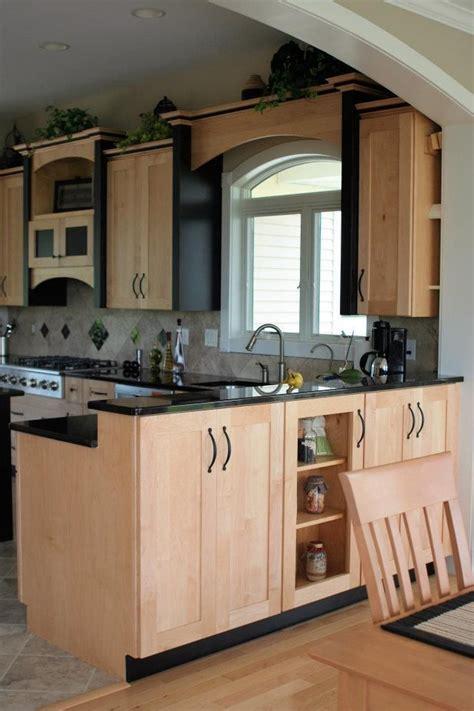 kitchen cabinet pieces maple kitchen cabinets with black accent trim 2677