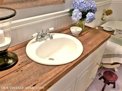 small bathroom countertop ideas your countertops diy salvaged wood counter cheap