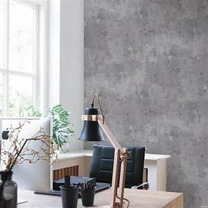 Tapete In Betonoptik : moderne beton steinwand vliestapete in grau 68653 joratrend tapetenshop ~ Orissabook.com Haus und Dekorationen