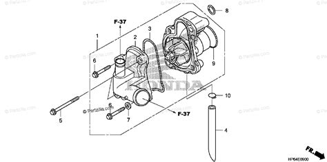 Honda Atv Oem Parts Diagram For Water Pump