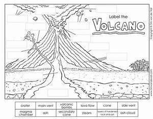 Volcano Diagram    Label The Volcano Worksheet For Kids