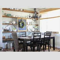 Open Shelving Dining Room  Small Dining Room Ideas 11