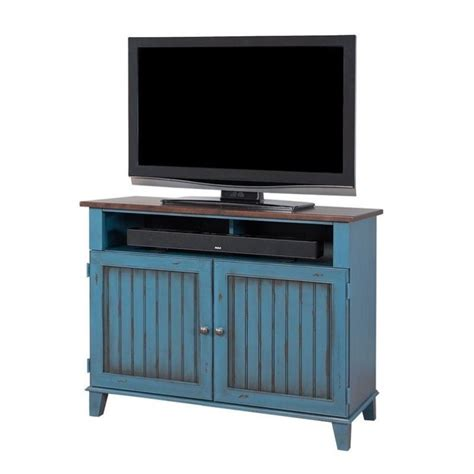 blue tv stand features